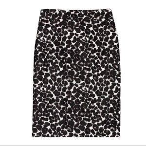 J.Crew Leopard Jacquard Knee-length Skirt
